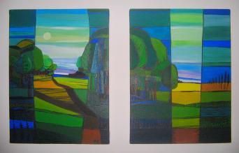 landschaft 3, acryl auf canvas.