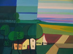 landschaft teil 1, acryl auf canvas.