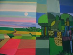 landschaft teil 2, acryl auf canvas.