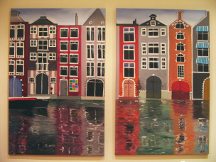 amsterdam, acryl auf canvas.