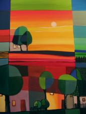 landschaft 1,  acryl auf canvas.