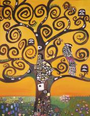 lebensbaum, acryl auf canvas.