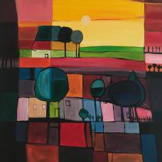 landschaft 2,  acryl auf canvas.